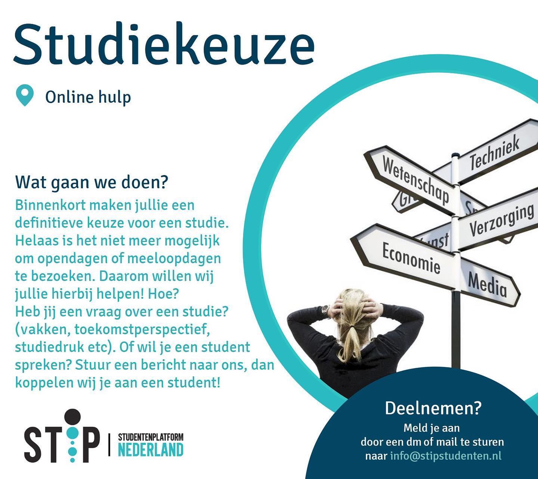 Online hulp bij studiekeuze
