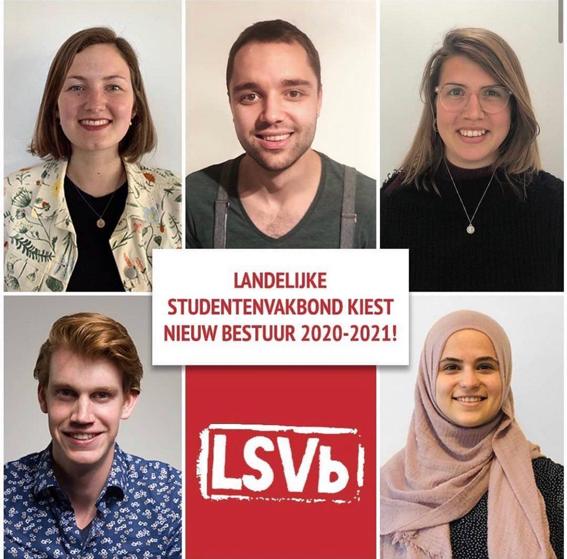 Nieuw bestuur LSVb met Esma!