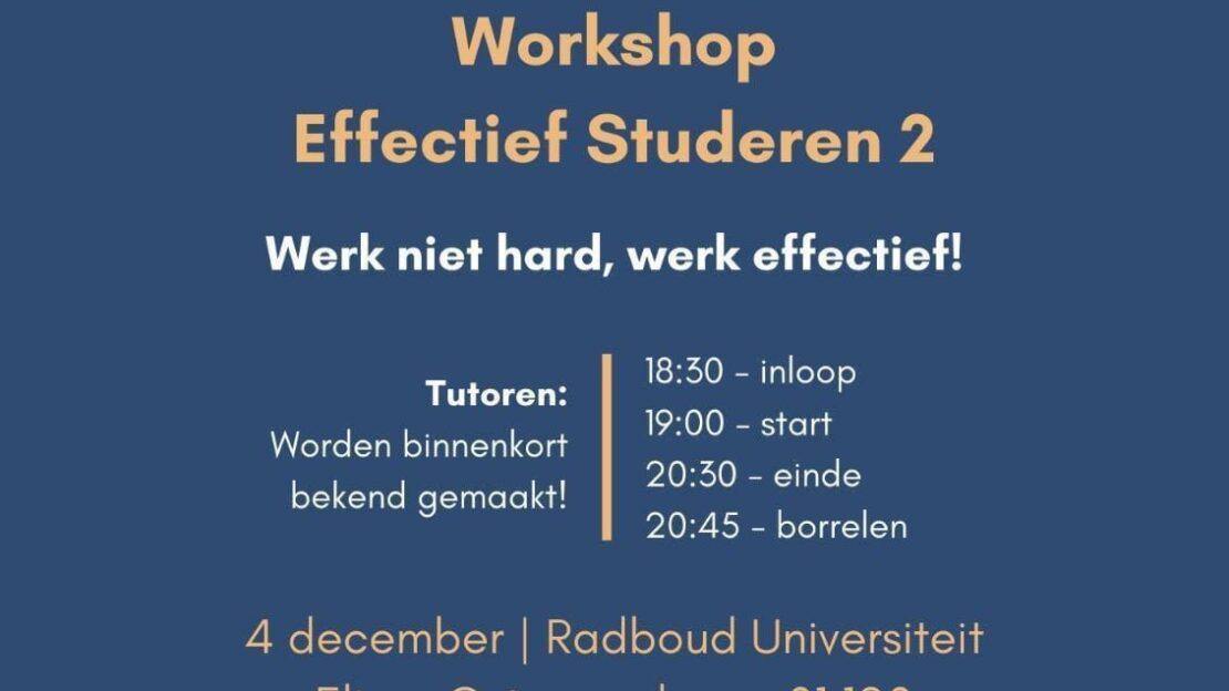 Workshop Effectief Studeren 2